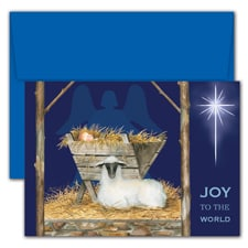 Joy To The World Hollyville Boxed Holiday Card