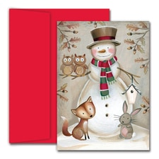 Woodland Animals Hollyville Boxed Holiday Card