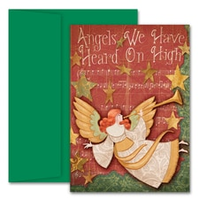 Angels We Have Heard On High Hollyville Boxed Holiday Card