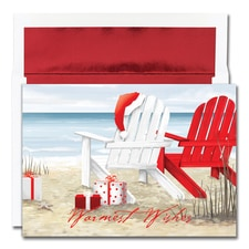 Beach Chairs Warmest Wishes Boxed Holiday Card