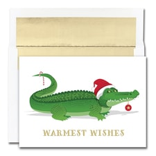 Holiday Gator Warmest Wishes Boxed Holiday Card