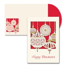 Ornament Laser Cut Season's Sentiments Boxed Holiday Card