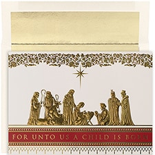 Manger Scene Holiday Collection Boxed Holiday Card