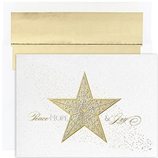 Shimmer Star Holiday Collection Boxed Holiday Card