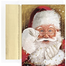 Sparkling Santa Holiday Collection Boxed Holiday Card