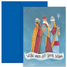 Folk Wisemen Hollyville Boxed Holiday Card