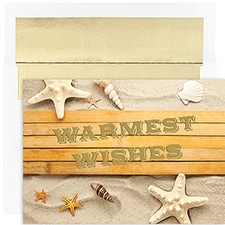 Beach Greetings Warmest Wishes Boxed Holiday Card