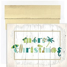 Seaside Christmas Warmest Wishes Boxed Holiday Card