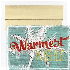 Warmest Wishes Palm Warmest Wishes Boxed Holiday Card