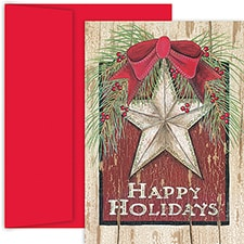 Holiday Star Hollyville Boxed Holiday Card