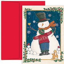 Snowman Love Hollyville Boxed Holiday Card