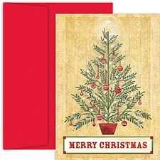 Spruce Tree Hollyville Boxed Holiday Card