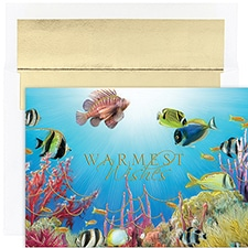 Tropical Fish Warmest Wishes Boxed Holiday Card