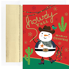 Howdy Y'All Warmest Wishes Boxed Holiday Card
