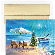 Shoreline Greetings Warmest Wishes Boxed Holiday Card