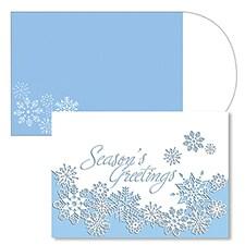 Snowflake Laser Cut Season's Sentiments Boxed Holiday Card