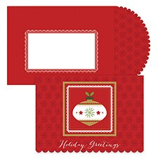 Contemporary Ornament Season's Sentiments Boxed Holiday Card