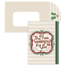 Most Wonderful Time Season's Sentiments Boxed Holiday Card