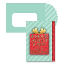 Merry Little Christmas Season's Sentiments Boxed Holiday Card