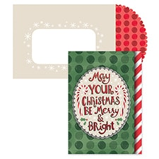 Merry & Bright Christmas Season's Sentiments Boxed Holiday Card