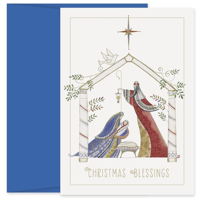 Contemporary Manger Holiday Collection Petites Boxed Holiday Card