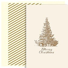 Merry Christmas Tree Holiday Collection Petites Boxed Holiday Card
