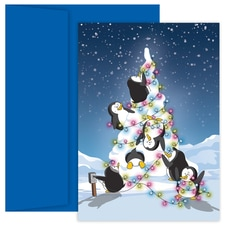 Penguin Tree Holiday Collection Boxed Holiday Card