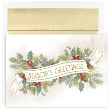 Season's Greetings Vintage Holiday Collection Boxed Holiday Card