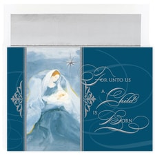 Blue Madonna Holiday Collection Boxed Holiday Card