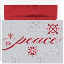 Silver Peace Holiday Collection Boxed Holiday Card