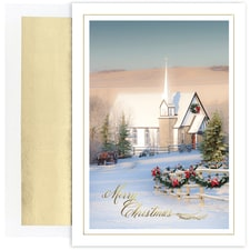 Country Church Holiday Collection Boxed Holiday Card