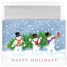 Holiday Snowmen Holiday Collection Boxed Holiday Card