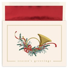 French Horn Holiday Collection Boxed Holiday Card