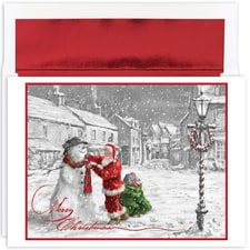 Santa & Snowman Holiday Collection Boxed Holiday Card