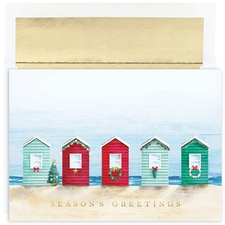 Beach Cabanas Warmest Wishes Boxed Holiday Card