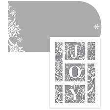JOY Laser Cut Season's Sentiments Boxed Holiday Card