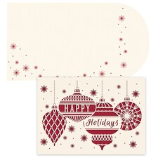 Ornaments Laser Cut Season's Sentiments Boxed Holiday Card