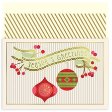 Ornaments & Berries Holiday Collection Petites Boxed Holiday Card