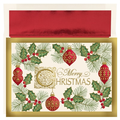 Antique Christmas Holiday Collection Boxed Holiday Card