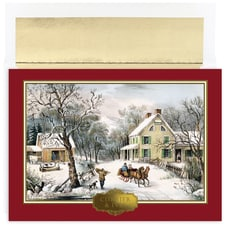 Currier & Ives Holiday Collection Boxed Holiday Card