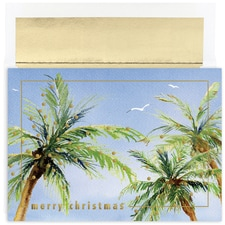Christmas Palms Warmest Wishes Boxed Holiday Card