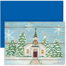 Winter Church Holiday Collection Boxed Holiday Card