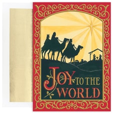 Joy To The World Wisemen Holiday Collection Boxed Holiday Card