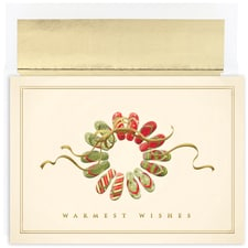 Flip Flop Wreath Warmest Wishes Boxed Holiday Card