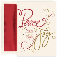 Peace & Joy Holiday Collection Boxed Holiday Card