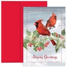 Pair of Cardinals Holiday Collection Boxed Holiday Card