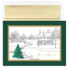 Winter Scene Holiday Collection Boxed Holiday Card