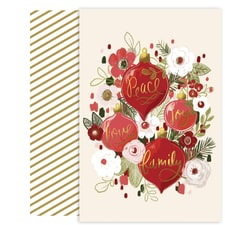 Ornament Bouquet Holiday Collection Petites Boxed Holiday Card