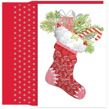 Delightful Stocking Holiday Collection Petites Boxed Holiday Card