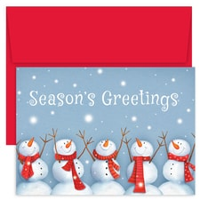Happy Snowmen Holiday Collection Boxed Holiday Card